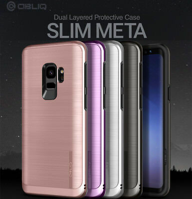 Obliq SlimMeta Dual Metallic Hard PC Protective Cover For Galaxy S9 S9 Plus Case