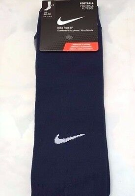 Nike Park Iv Football Socks Midnight Navy/wht Uk Size Yth 5-8  Bnwt
