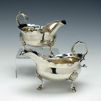 Pair of George III Silver Sauce Boats London 1771