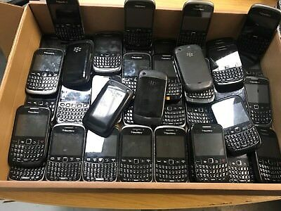 Joblot Of 45 Used Untested Blackberry Curve Mixed Model Phones - Ref T1827