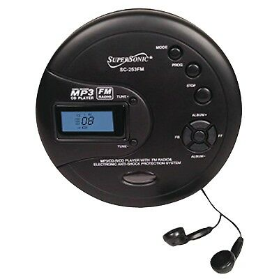 SUPERSONIC SC-253FM Supersonic Personal MP3/CD Player with FM Radio