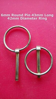 Pack of 5. 6mm Tractor Trailer Linch Pin Lynch Pins.42mm Ring