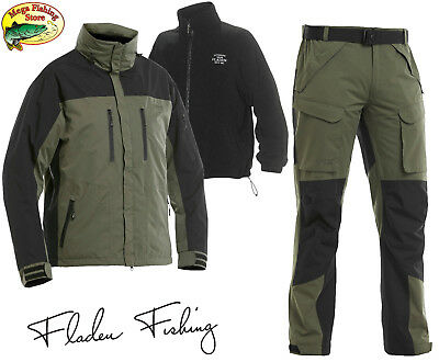 FLADEN Authentic 3in1 Thermo Angel Outdoor Anzug - Winter Jacke & Hose Allwetter