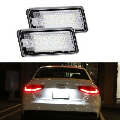 2X Audi Canbus License Number Plate LED Light Lamp A3 S3 A4 B6 B7 A6 S6 A8 RS4