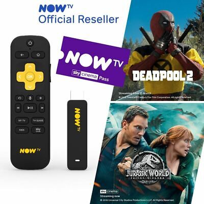 NOW TV Smart Stick with HD & Voice Search with 1 Month Cinema Pass PRE-INSTALLED