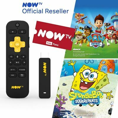 NOW TV Smart Stick with 3 month Kids Pass PRE-INSTALLED