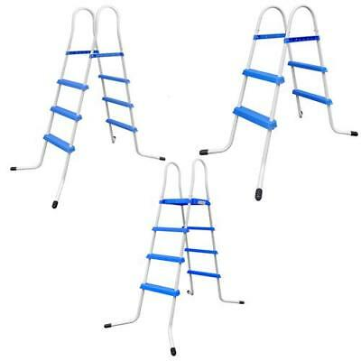 New Swimming Pool Ladder Steel Non-Slip Max. 150kg Pool Height 86.5/111/128cm