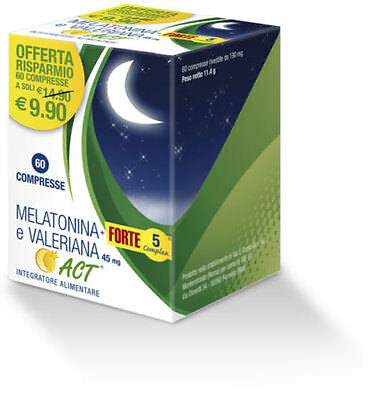 Melatonina E Valeriana 60 Compresse 190 Mg