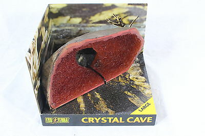 Exo Terra- Large Crystal Cave for Reptiles- Scenery