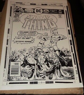 Swamp Thing Transformation Horror Terror Cover Production Art Acetate