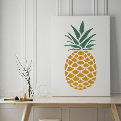 CraftStar Large Pineapple Stencil - Reusable Oversized Pineapple Wall Stencil