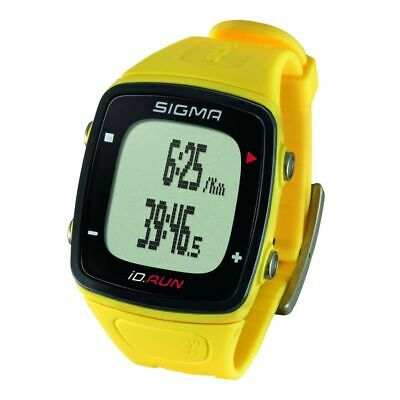 Sigma GPS Sports Watch with Rechargeable Li-ion Battery iD.RUN Yellow 24810