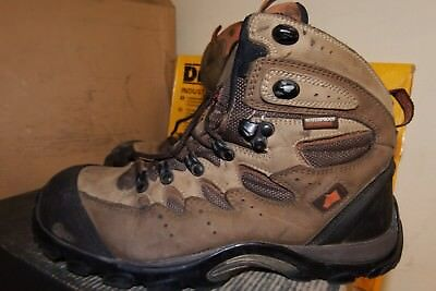e463e50c522 HYENA EIGER BROWN Leather Hiker Breathable Steel Toe Safety Boots UK 7 -  AA172