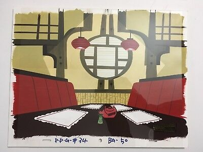 POWERPUFF GIRLS Production Animation HAND PAINTED Background Cartoon Network ppg