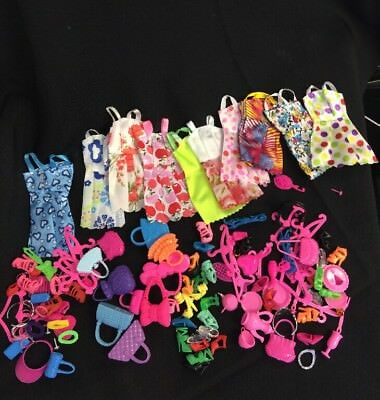 HUGE Barbie Doll Clothes Dress Pant Short Skirt Outfit Play 120+ Piece Lot