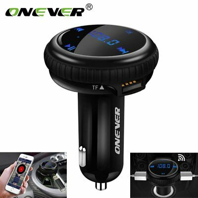 Bluetooth Car Music Player FM Transmitter APP GPS Finder Dual USB Ladegerät TF U