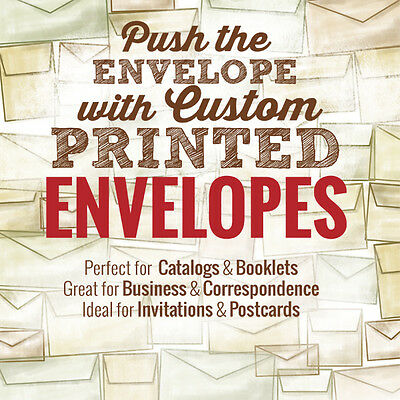 #10 Marketing Envelopes 25,000/lot Full Color Printing with Bleeds Premium Paper
