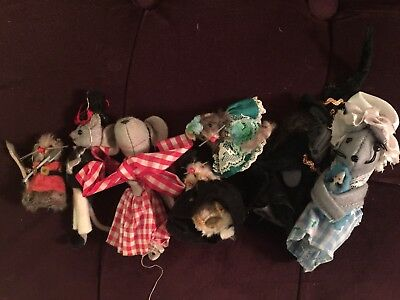 Lot Vintage Original Fur Toys - Made in W. Germany - Mouse (pre-owned) Varies
