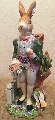 FITZ and FLOYD Old World Victorian Rabbit Male Rabbit Candle Holder Easter Decor