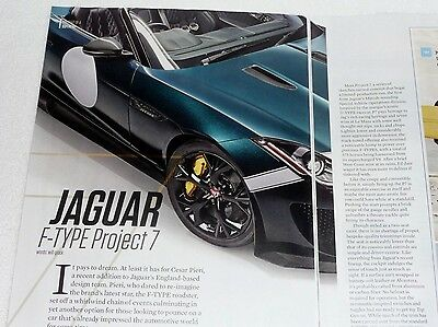 New,  Limited Production  Jaguar F-Type Project 7-Article - Hot Off The Press