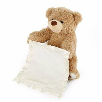 Peek A-Boo Teddy Bear Toddler Children Baby Play Soft Toy Plushed  Blanket Gift