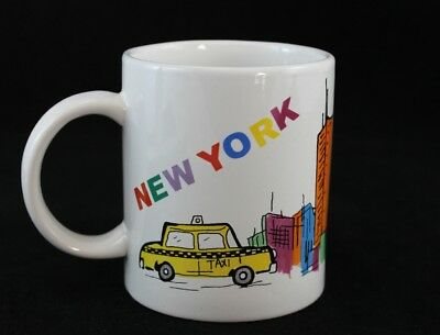 Coffee Tea Cup Mug New York City Landmark Collectable Twin Towers Cab Sunny