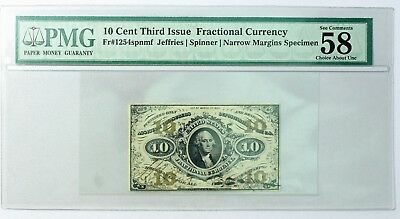{DO 307B} 10 Cent Third Issue Fractional Currency Note PMG 58 Specimen