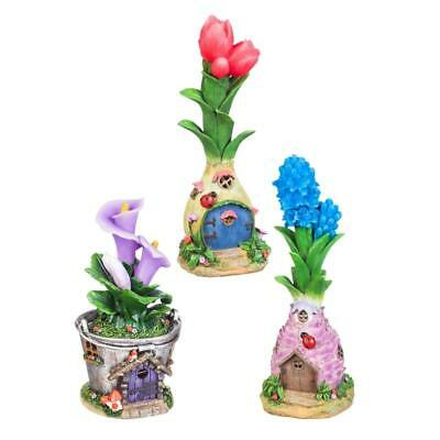 My Fairy Gardens Mini - Light-Up Blooms Fairy Houses - Set of 3 - Supplies