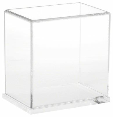 "Plymor Brand Clear Acrylic Display Case with Clear Base, 6"" W x 4"" D x 6"" H"