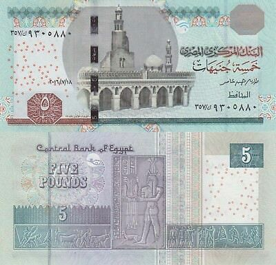 Egypt 5 Pounds (2016.7.18) - Revised Note/p70-New UNC