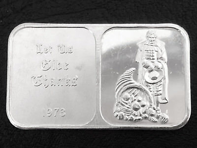 1973 Let us Give Thanks 1 Troy oz .999 Fine Silver Art Bar Crabtree Mint Q8