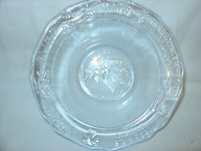 Vintage nursery rhyme Mother Goose blue childrens glass bowl
