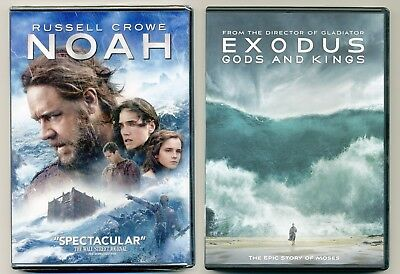 Two PG-13 2014 Biblical movies: NOAH, EXODUS Gods & Kings, new DVDs Crowe, Bale