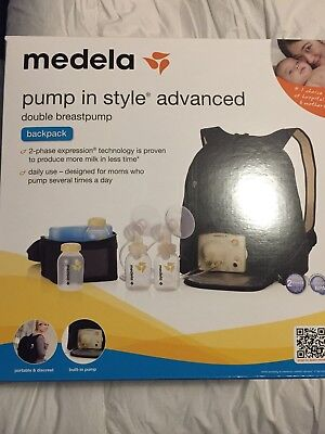 Medela Pump In Style Advanced Double Breast Pump Backpack. BRAND NEW / SEALED