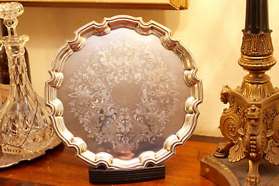 A Beautiful Sheraton Influence Silver Plated Tea Tray