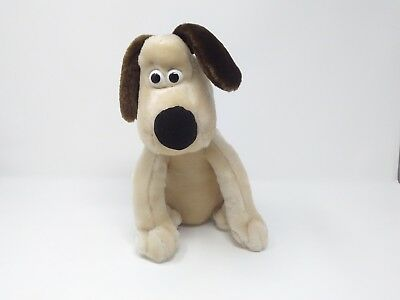 "Wallace & GROMIT RARE Born to Play 12"" Plush Sitting Dog Vintage 1989  EUC"