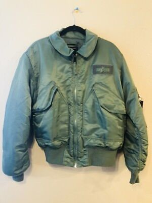 87cd6241b ALPHA INDUSTRIES FLYER'S Jacket CWU-45/P Large