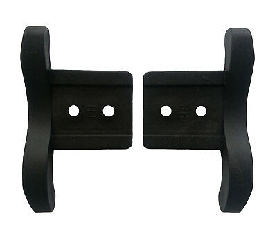 "HEAVY DUTY 76mm End Locks Roller Shutter PAIR 3"" Left & Right Black Impact Poly."