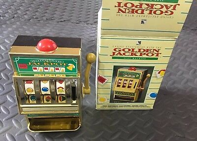 Vintage Waco Golden Jackpot Slot Machine Toy Made In Taiwan