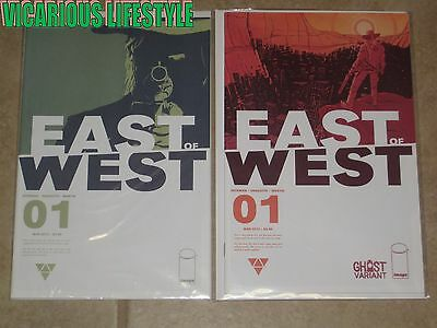 East of West #1 (2013) Image Comics 1st Print Ghost Variant Hickman, Dragotta NM