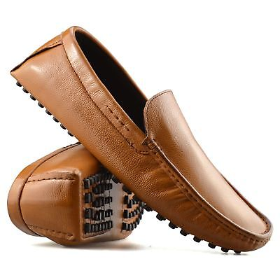 Mens Leather Slip On Casual Smart Loafers Mocassin Designer Driving Shoes Size