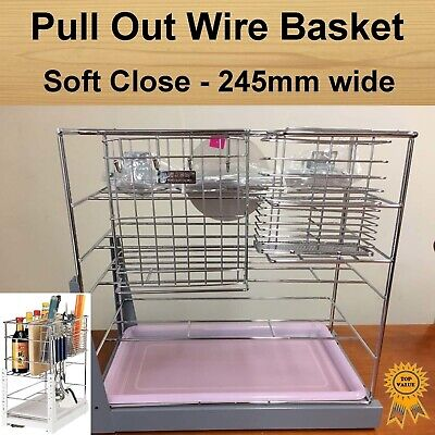 Soft Close Pull Out Pantry Organiser Kitchen Cabinet Storage Wire