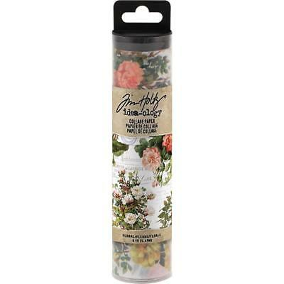 Tim Holtz Idea-Ology Collage Paper - Floral - 6yd Roll - NEW!