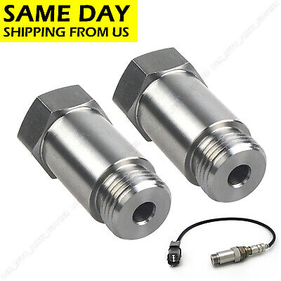 2* NEW Straight 45mm O2 Oxygen Sensor Extension Spacer extender M18 X 1.5 CEL