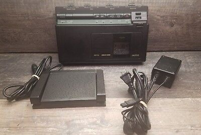 Sanyo TRC-8080 Memo-Scriber Cassette Dictation Transcriber w/ Power Adapter