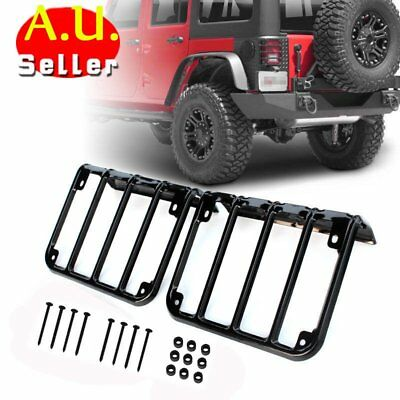 Tail Light Guards Cover Rear Lamps Trim Cover For 2007-2016 Jeep Wrangler JK X5