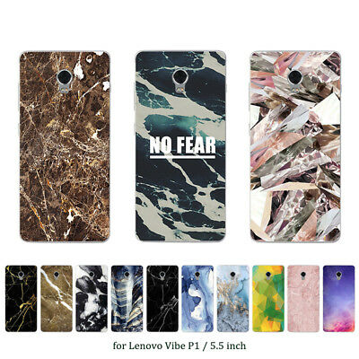 Soft TPU Silicone Case For Lenovo Vibe P1 Protective Back Covers Skins Printed
