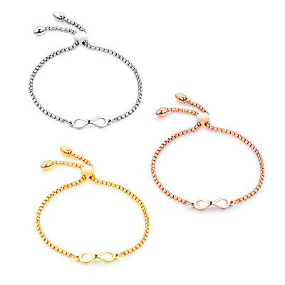 Charm Stainless Steel Bracelet for Women Chain Infinity Love Friendship Bracelet
