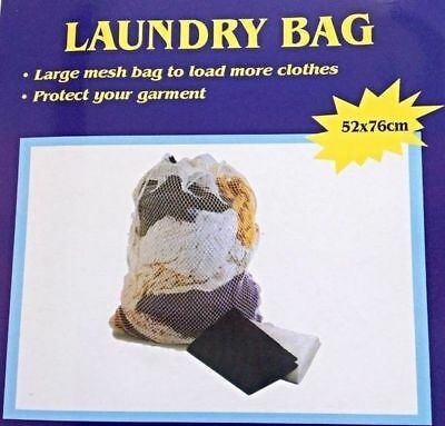 Large Mesh Laundry Clothes Storage Carry Bag 52 X 76cm  Strong & Lightweight