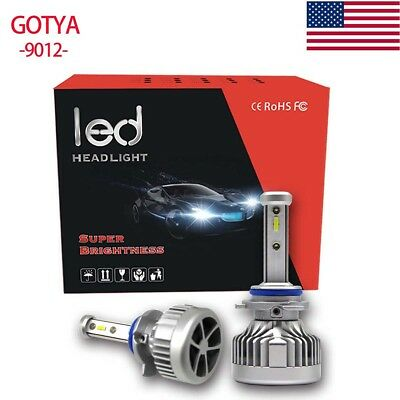9012 High Power Headlight Conversion Bulb White 6000K Hi/Lo Beam Kit 96W 9600lm